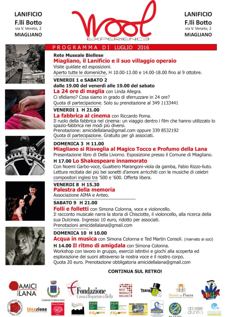 WOOL EXPERIENCE - LUGLIO 2016
