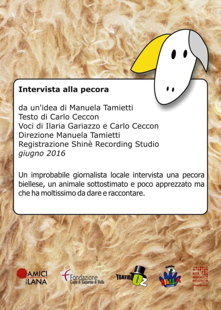 Cartello intervista pecora